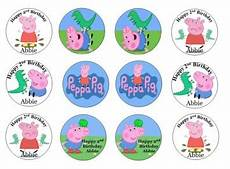 peppa pig edible cupcake toppers for sale in dalkey dublin from flour power