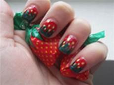 nehty ovoce nail tutorial time strawberries