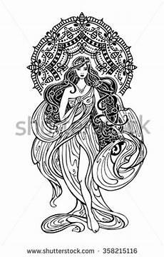 Mandala Frau - goddess stock vectors vector clip