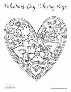 free valentine s day coloring pages for grown ups almost