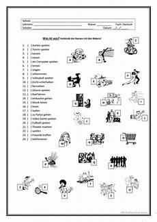 german homework worksheets 19657 hobbys german grammar education printables