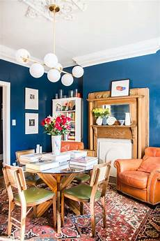 high gloss blue dining room reveal thou swell