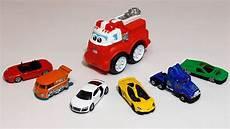 voiture en dessin voitures jouets apprendre les couleurs avec le camion de