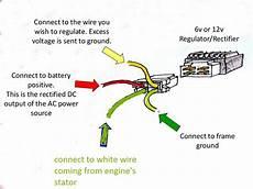 12 to 6 volt diagram 6 volt regulator rectifier converts 12v clone engines to 6 volt keep original lights battery