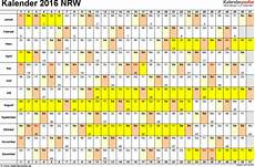 kalender 2016 nrw ferien feiertage pdf vorlagen