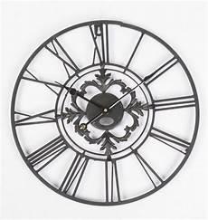 wanduhr metall im landhausstil uhr schwarz vintage 216 102 cm