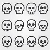 Skull Icons Collection Vector  Free Download