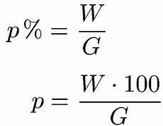 prozentsatz prozentzahl berechnen