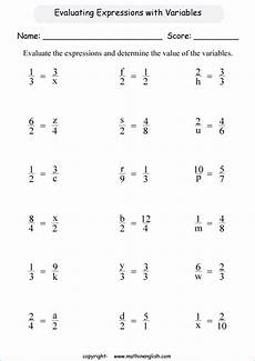 evaluate the expressions with fractions and determine the value of the variables challenging
