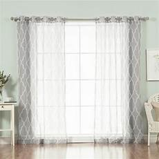 home fashion gardinen best home fashion 96 in l sheer moroccan curtains in grey