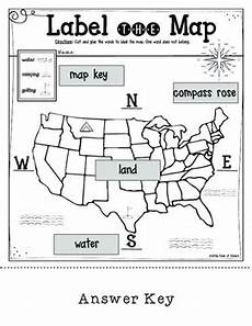easy mapping worksheets 11537 mapping label it grade and kindergarten social studies tpt