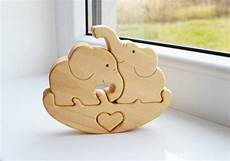 puzzle wooden puzzle elephant from ladyevadesign