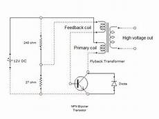 flyback transformer diagram how to convert 12volt dc into thousands of volts using a tv flyback transformer hubpages
