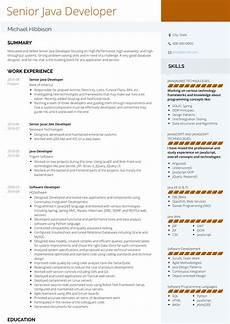 java developer resume sles and templates visualcv