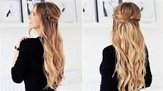 festliche frisuren lange haare fishtail braid half updo for medium and hair
