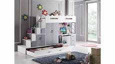 lit mezzanine enfant lit mezzanine pour enfants blanc et gris 2 lits