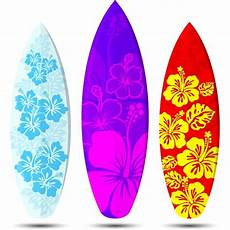 3 Hawaian Surf Boards Tattoos