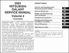 service and repair manuals 2001 mitsubishi galant electronic toll collection 2001 mitsubishi galant repair shop manual set original