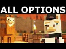 the angry llama minecraft story enter the fort with or without llama lluna all options