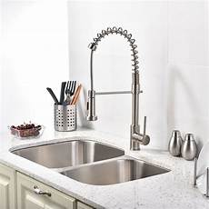kitchen faucets and sinks brushed nickel kitchen sink faucet with pull sprayer