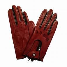 gants de conduite femme cuir bordeaux glove story