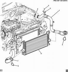 2012 cruze engine diagram chevrolet cruze hose turbocharger supercharger cooling hose chrg air clr otlt air has