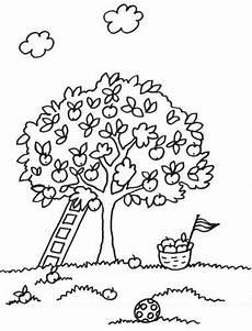 Ausmalbilder Haus Mit Baum B 228 Ume Kostenlose Malvorlage Baum Mit Leiter Zum Ausmalen