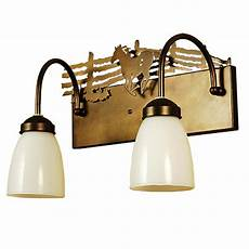Lodge Bathroom Vanity Lights by Western Corral 2 Light Vanity Fixture Cabin Place