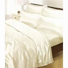 satin bedding sets 6 piece duvet cover fitted sheet 4 pillowcases ebay