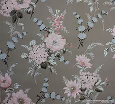 flower wallpaper grey 1940 s vintage wallpaper floral wallpaper with large