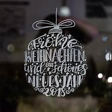 lettering weihnachtskugeln als fensterbilder vorlage