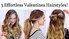 3 effortless date hairstyles youtube