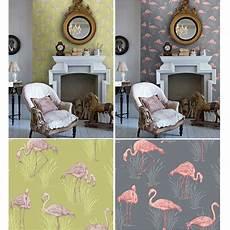 muster für wände arthouse lagune vintage flamingo tapete luxus vinyl gr 252 n
