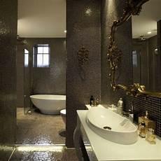 meuble salle de bain baroque noir le carrelage mosaique pour la d 233 co de la salle de bains