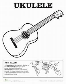 ukulele coloring page kolorowanki szablony musica