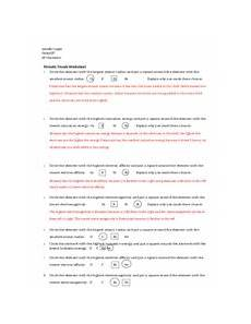 periodic trends worksheet answers 1 honors chemistry periodic trends worksheet name 1 circle