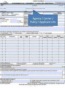 general insurance application form simply easier acord forms how to complete the acord 126