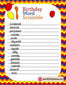 birthday worksheets for adults 20191 birthday word scramble