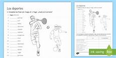 sports worksheet worksheet vocabulary sports