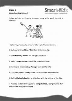 grade 5 english worksheet subject verb agreement slimkoppe