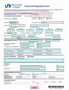 personnel requisition form templates at allbusinesstemplates com
