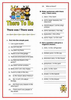 worksheets for elementary 18553 there was there were elementary worksheet