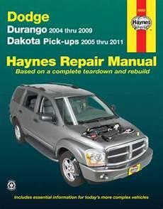 free online auto service manuals 2004 dodge dakota club interior lighting 2004 2009 dodge durango 05 11 dakota pick ups haynes repair manual