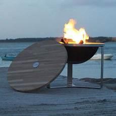 le brasero inox zoum et couvercle bois fabriqu 233 en
