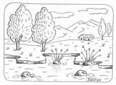 dibujo de los simbolos naturales para colorear paisajes para colorear paisajes para colorear