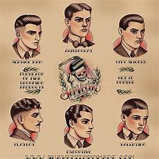 gentle men s haircutting guide poster men s fashion hair styles vintage hairdresser