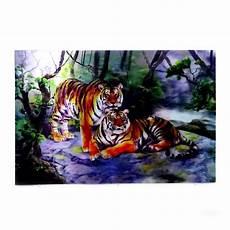 Poster 3d Harimau