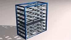 metal sheet forklift rack 3d video youtube