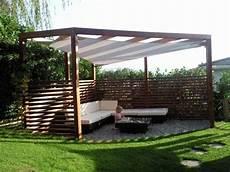 Pergola Holz Mit Sonnensegel Ged Sitzplatz Sonnenschutz