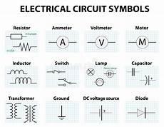common circuit diagram symbols stock vector illustration of capacitor graphic 68934130